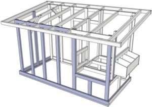 Каркасна конструкція є оптимальною для курятника