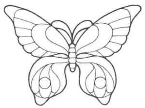 трафарет метелика