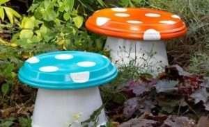 Фігурки грибів для дачі – вироби для саду своїми руками з дітьми