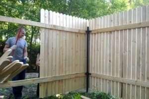 Дерев'яний паркан - як зібрати його секції