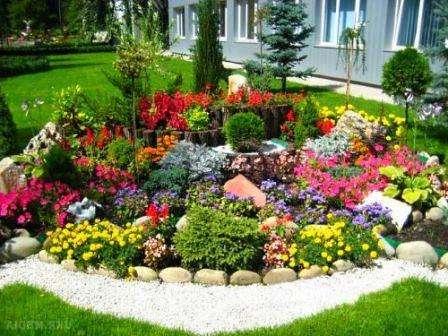 Як зробити квітник або клумбу перед будинком своїми руками