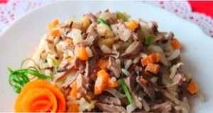 салат з рису і качки.