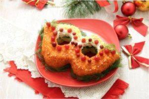 Новорічний салат Подарунок з фото