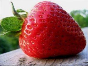 Вага однієї полуниці - близько 100 г