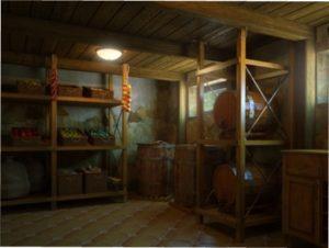 Комора та підвал для зберігання картоплі