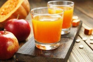 Яблучно-гарбузовий сік на зиму