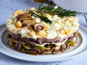 Незрівнянно смачний салат з мовою