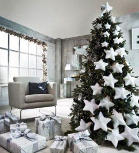 Фото новорічної ялинки 2021 в білому кольорі