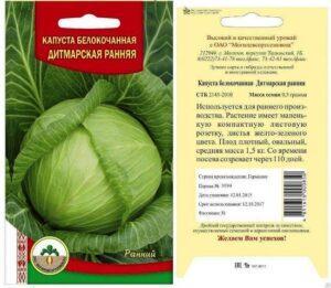 Дітмарская Рання - найкращі сорти капусти